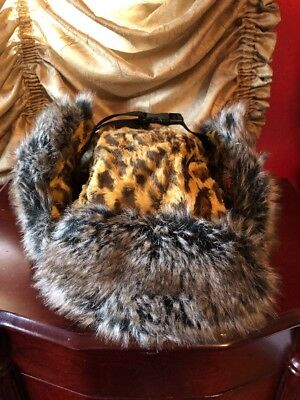 $ CDN301.67 • Buy Authentic Rare SUPREME Unisex Faux Fur Leopard Trooper Hat.. Free Shipping
