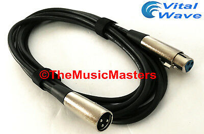 £8.61 • Buy 12ft XLR Microphone Audio Cable M-F Mic Extension Amp Powered Speaker Wire VWLTW