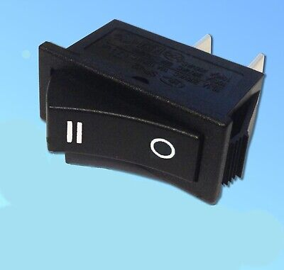£3.99 • Buy Single Pole  Rocker Switch 16amp 250v Double Red Lines On Top C1501