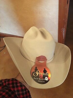 5a523b4292b Men s Serratelli 5X Beaver Felt Cowboy Hat Made In USA Remington Silver  Belly • 145.00