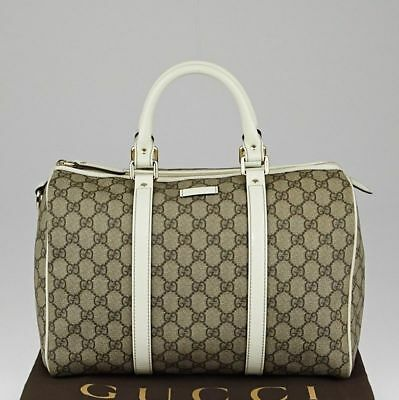 69261b985 Gucci Beige/Ivory Signature GG Coated Canvas Joy Boston Bag • 1,350.00$