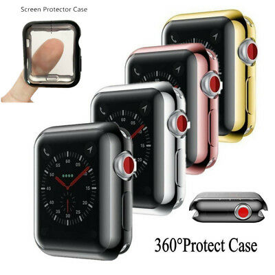 $ CDN3.51 • Buy For Apple Watch Series 4 3 2 38/44mm Slim Silicone Screen Protector Case Cover