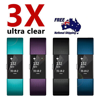 $ CDN7.62 • Buy 3 Anti-Scratch Waterproof Screen Protector Clear HD Film Guard Fitbit Charge 2
