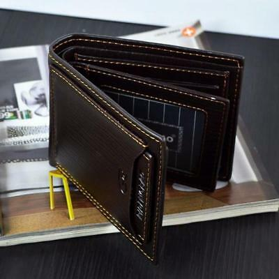 $7.99 • Buy Men's Genuine Leather Credit Card Holder Wallet Bifold ID Cash Coin Purse Clutch