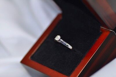 AU780 • Buy Genuine 0.38Ct Diamond Engagement Solitaire Ring 14K White Gold