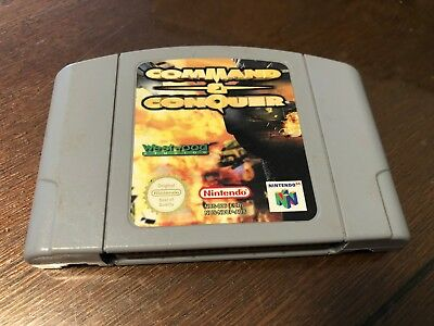 AU28 • Buy Command & Conquer PAL Nintendo 64 Game *Cartridge Only* GC FAST POST