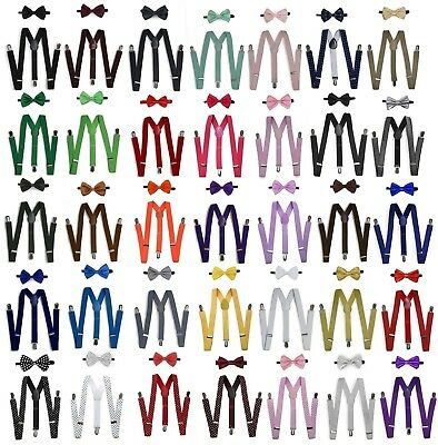 $8.50 • Buy Suspender And Bow Tie Set For Adults Men Women Teens (USA Seller) 30 Selections