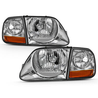 $66.91 • Buy 97-03 Ford F150 Expedition Chrome Replacement Headlight Corner Signal Lamp Set