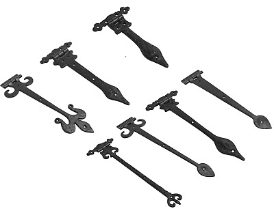 £8.09 • Buy Black Antique Old English Country Door Gate Tee T Hinges Spear Hinges Cast Iron