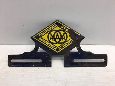 $ CDN189.33 • Buy AAA California State Vintage Porcelain License Plate Topper Chevy Ford GM Ratrod