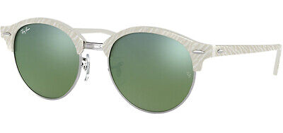 f3c24e17bbd Ray-Ban Clubround Women s Ivory Vintage Sunglasses W  Mirror Lens - RB4246  9882X •