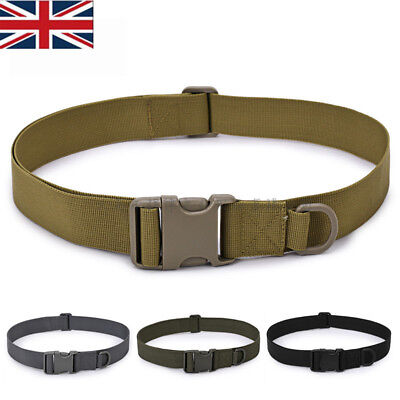 Quick Release Buckle Military Trouser BELT Army Tactical Canvas Webbing New • 3.99£