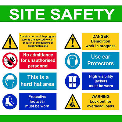 £14.50 • Buy Site Safety Signs On A3 Poster Or Board Health And & Safety Work Place