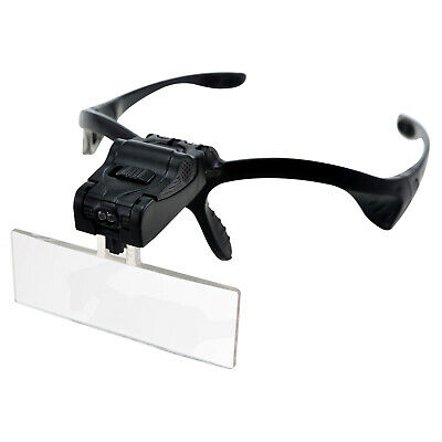 £8.59 • Buy Led Head Magnifying Glasses Head-mounted Magnifier Hands-free Headband New
