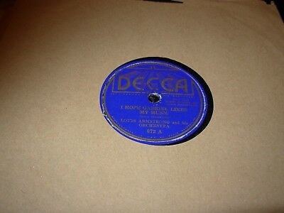 LOUIS ARMSTRONG Shoe Shine Boy / I Hope Gabriel Likes ( Jazz ) 78 Rpm Decca 672 • 19.99$