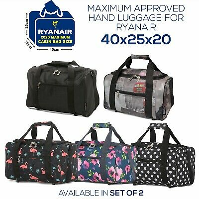 £8.99 • Buy 5 Cities 40x20x25 Ryanair Maximum Sized Cabin Bag Carry On Holdall Flight Bags
