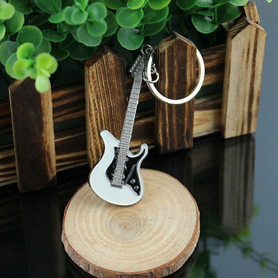 £4.15 • Buy Stainless Steel Music Key Chain Key Ring Electric Guitar Keyring Keychain Gift
