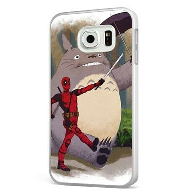 Deadpool Totoro My Neighbor Funny WHITE PHONE CASE COVER For SAMSUNG GALAXY • 6.95£