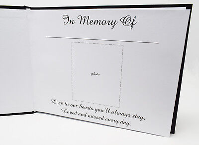 £10 • Buy Memory Funeral Book Black Guest Book Of Condolence Or Remembrance Memorial