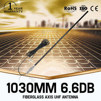 AU65.99 • Buy 1030MM Antenna Hi Gain 6.6DBi For UHF CB Radio Fiberglass 477MHz Black Bull Bar