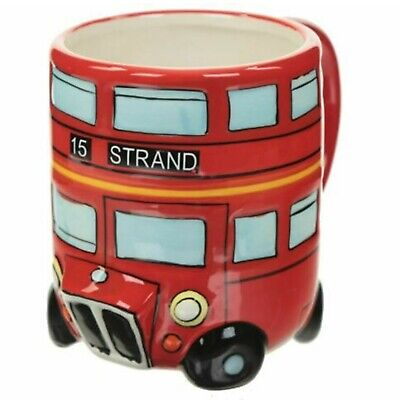 £8.99 • Buy Routemaster  London Bus Ceramic Tea Cup Round Novelty Coffee Mug Red Gift Box