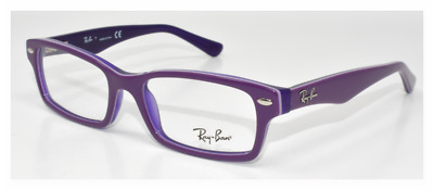 e21c8486f7c0 New Authentic Ray Ban Eyeglasses Kids Ry1530 3589 Violet On Violet Transp  48-16 •