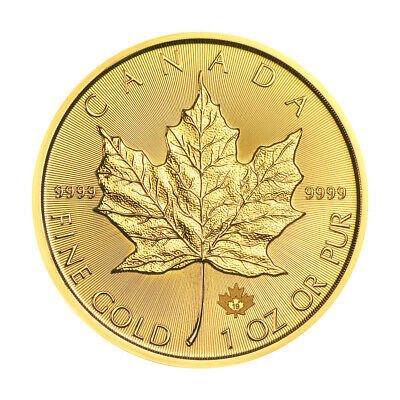 View Details 1 Oz 2019 Canadian Maple Leaf Gold Coin • 2085.09$ CDN
