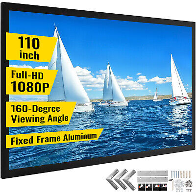 AU215.96 • Buy 110  279cm Projector Screen Fixed Aluminum Frame Home Theatre TV Projection