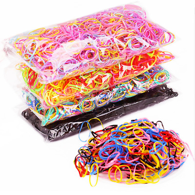 $0.91 • Buy Hot!1000pcs Rubber Hairband Rope Girls Ponytail Holder Elastic Hair Accessories