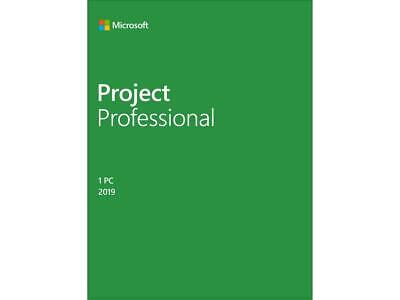 $ CDN1517.99 • Buy Microsoft Project Professional 2019 / Windows 10 Product Key Card - 1 PC