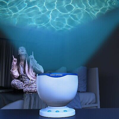Calming Autism Sensory LED Light Projector Toy Relax Blue Night Music Projection • 17.29£