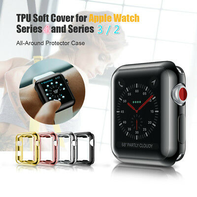 AU6.98 • Buy For Apple Watch Series 1 2 3 4 5 IWatch 40/44mm Clear TPU Screen Protector Case