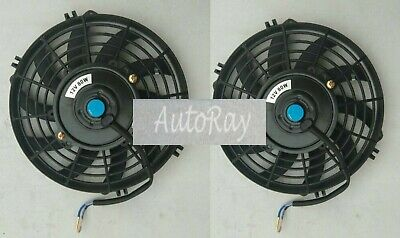 AU67.50 • Buy 2PCS Of 9'' 12V 9 Inch 12 V Thermo Radiator Fan & Mounting Kits CURVED BLADE