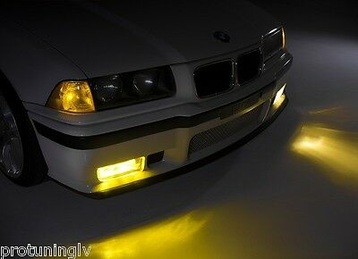$56.78 • Buy Yellow Amber Foglights For BMW E36 Clear Foglamps Fog Lights Fogs Lamps M3 Front