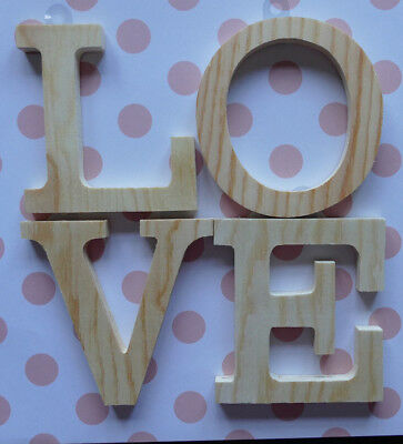 £5.40 • Buy Wooden Letters LOVE To Decorate Yourself Valentine Wedding Decoration Plaque