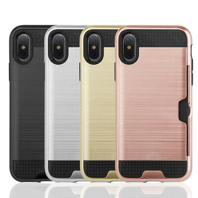 AU9.29 • Buy Slim Sleek Case With ID Credit Card Holder Cover For Apple IPhone X / IPHONE XS
