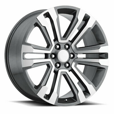 $325 • Buy FACTORY REPRODUCTIONS FR 72 Escalade 22X9 6X139.7 ET24 Grey Mach Face (Qty Of 1)