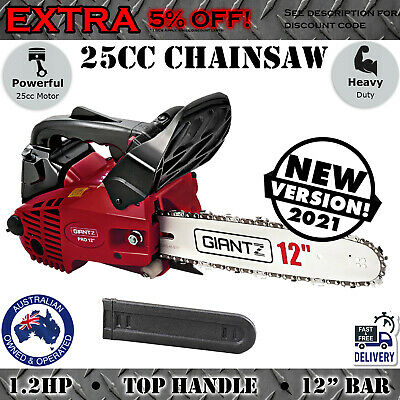 AU135.97 • Buy 25cc Petrol Chainsaw 12  Bar Tree Branch Pruning Garden Chain Saw Pruner Small