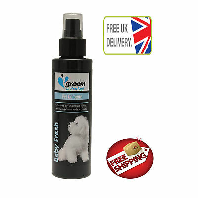 Groom Professional Cologne Puppy Dog Spray 100ml Baby Pet Pup Powder Talc Smell • 13.57£