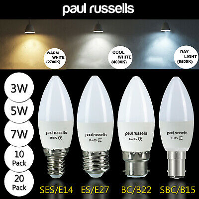 Dimmable Halogen Candle Clear Light Bulbs 18w 28w 42w Wattage Bc Sbc Es Ses Uk • 5.99£