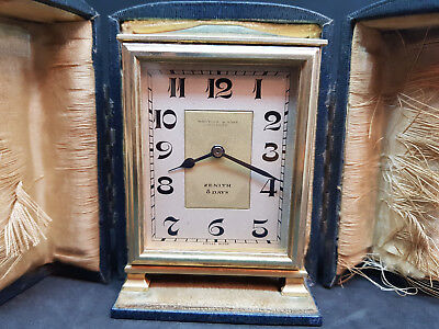 AU1511.90 • Buy Rare Vintage Zenith 8 Days Travel Clock Whytock & Sons Dundee With Case