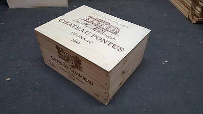£19.95 • Buy 1 X 6 Bottle With Lid - Genuine French Wooden Wine Crate Box Wedding Gift Idea