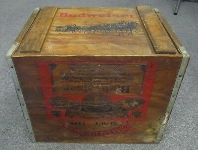 $ CDN186.36 • Buy Budweiser Vintage Wood Crate With Clydesdales