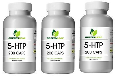 $ CDN67.08 • Buy 5-HTP LOT OF 3 200mg Supplement - 600 Capsules Huge Bottles BEST DEAL Greeen Lf