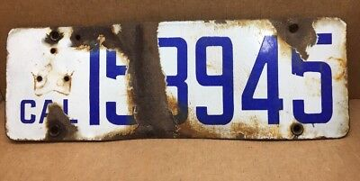 $ CDN118.51 • Buy Rare Porcelain ( California) License Plate-vintage