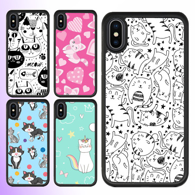 AU11.99 • Buy IPhone 12 Pro Max 11 XS XR X 8 7 Shockproof Bumper Case Cute Cat Kitty II Cover