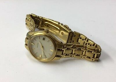 Vintage Ladies Citizen Eco-Drive Gold Plated Wrist Watch (Working) • 44.95£