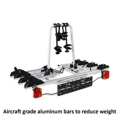 AU279.97 • Buy 4 Bicycle Tow Bar Bike Carrier Steel Frame Car Rear Rack Ball Mount Black Silver