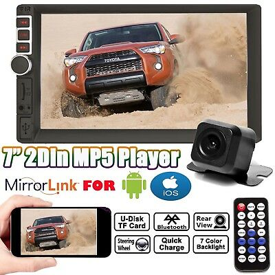 AU92.21 • Buy 7  Double 2DIN Car Stereo Radio MP5 Touch+Rear Camera Mirrorlink For Android IOS