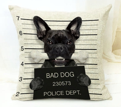 French Bulldog Gifts Cushion Cover Tote Cosmetic Bag Funny Gift Present • 6.99£